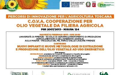 12 febbraio 2015, convegno all'Università di Firenze sul Progetto C.O.V.A.